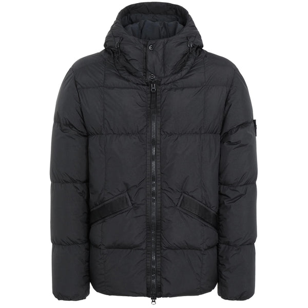 STONE ISLAND Quilted Down Jacket, Black