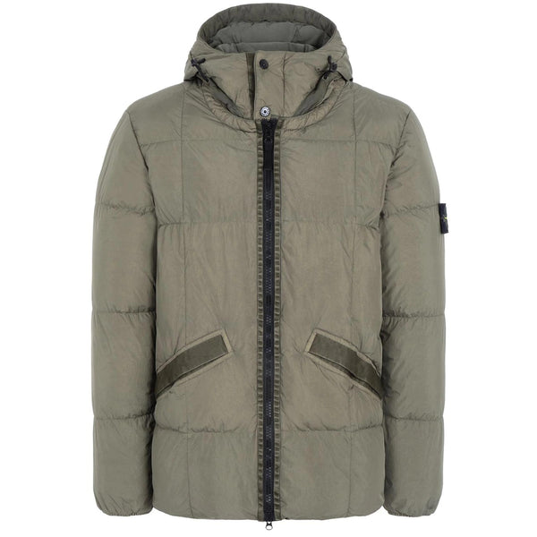 STONE ISLAND Quilted Down Jacket, Olive Green