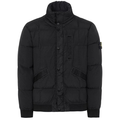 STONE ISLAND Down Padded Logo Patch Jacket, Black
