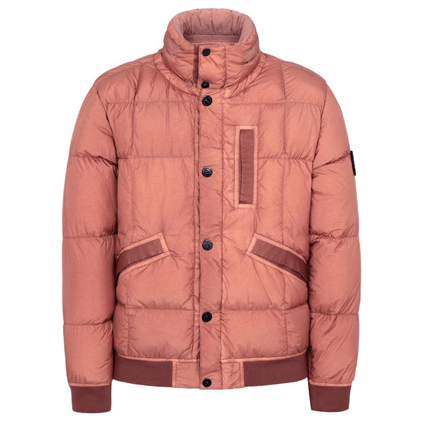 STONE ISLAND Down Padded Logo Patch Jacket, Rust
