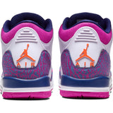GIRLS AIR JORDAN 3 RETRO (GS) BARELY GRAPE/HYPER CRIMSON-FIRE PINK