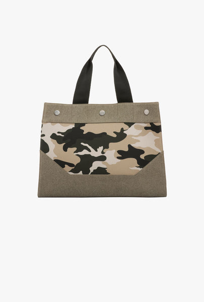 BALMAIN B-SOFT SHOPPER 48-CANVAS