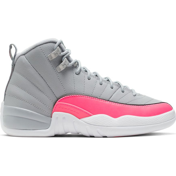 AIR JORDAN 12 RETRO WOLF (GS) GREY/RACER PINK-BLACK