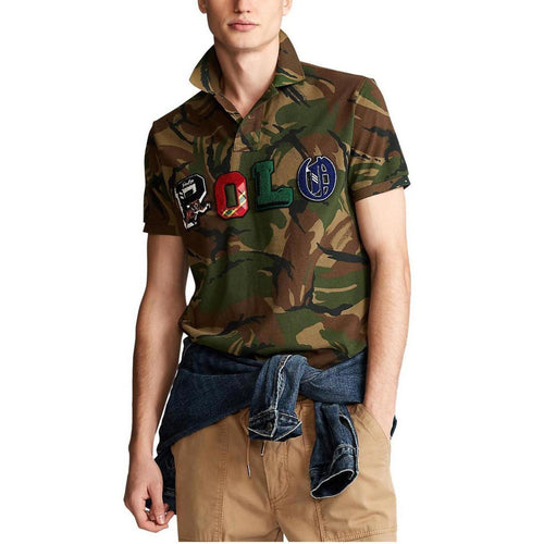 POLO RALPH LAUREN Custom Slim-Fit Camo Polo Shirt, British Elmwood Camo