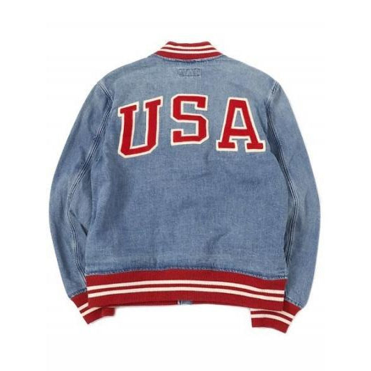 POLO RALPH LAUREN Denim Varsity Jacket, Blue