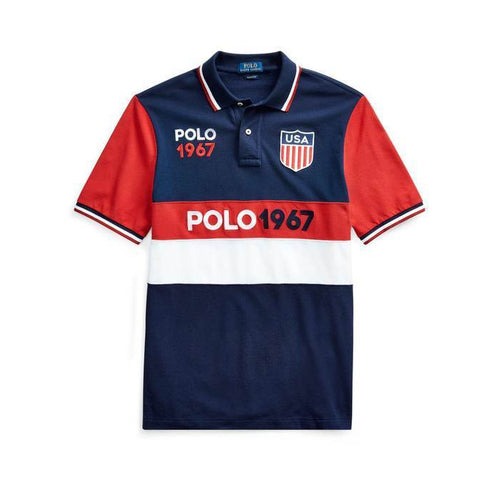 POLO RALPH LAUREN Classic-Fit Shield Polo Shirt, Multi