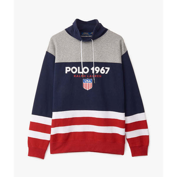 POLO RALPH LAUREN Funnel Neck Logo Sweatshirt, Multi