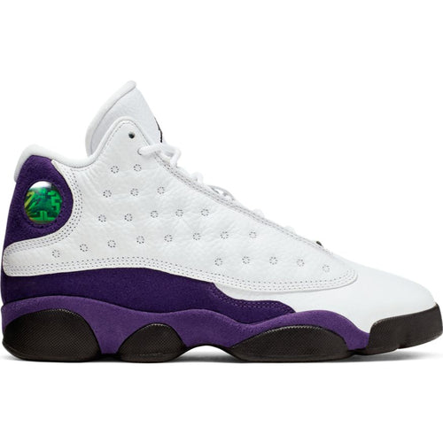 AIR JORDAN 13 RETRO (GS) WHITE/BLACK-COURT PURPLE-UNIVERSITY GOLD