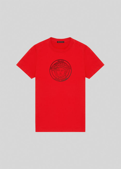 VERSACE MEDUSA T-SHIRT, Red