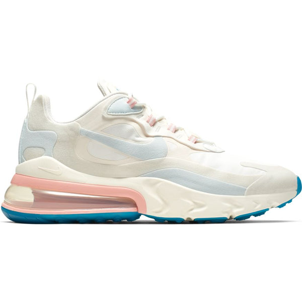 NIKE AIR MAX 270 REACT (AMERICAN MODERN) SUMMIT WHITE/GHOST AQUA-PHANTOM