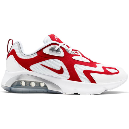 NIKE AIR MAX 200 WHITE/UNIVERSITY RED-METALLIC SILVER