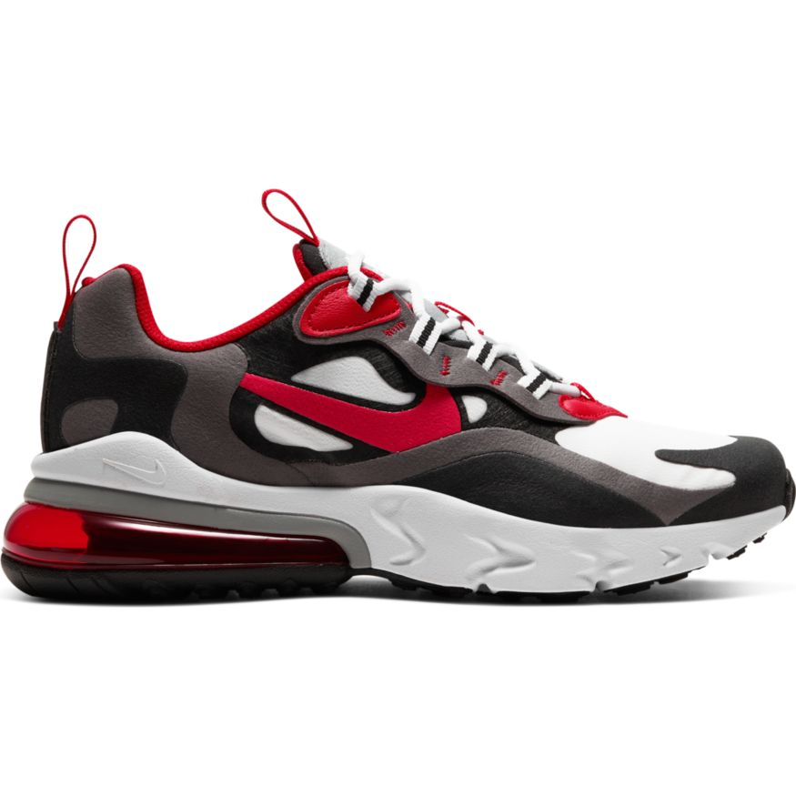 Nike Air Max 270 React Iron Grey University Red Black White Oznico