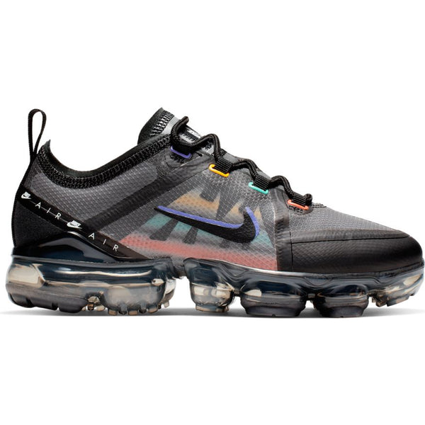 NIKE AIR VAPORMAX 2019 (GS) GAME BLACK/FLASH CRIMSON-KINETIC GREEN
