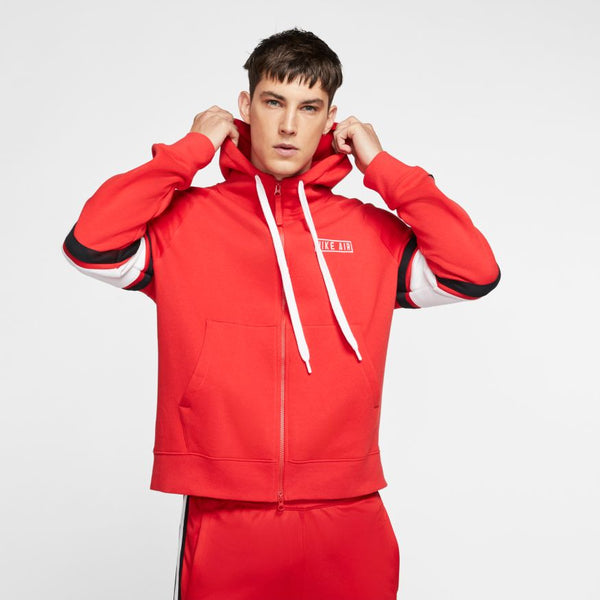 NIKE AIR FLEECE HOODIE, University Red