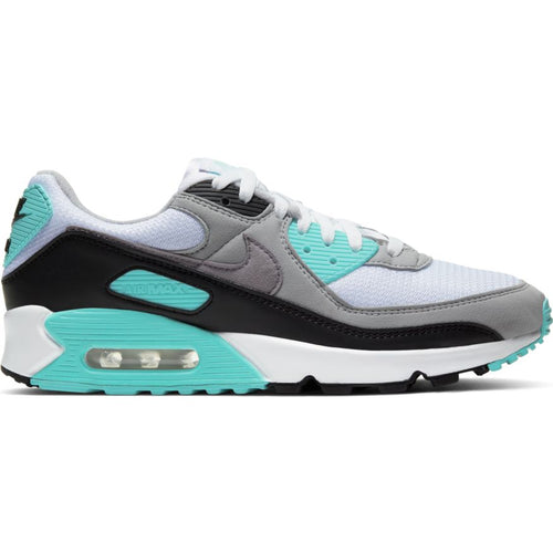 NIKE AIR MAX 90 WHITE/PARTICLE GREY-HYPER TURQ-BLACK
