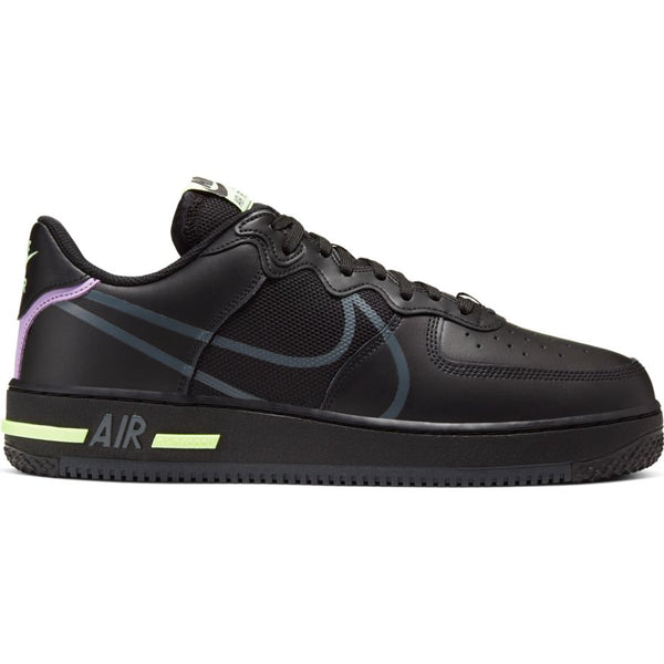 NIKE AIR FORCE 1 REACT BLACK/ANTHRACITE-VIOLET STAR-BARLEY VOLT
