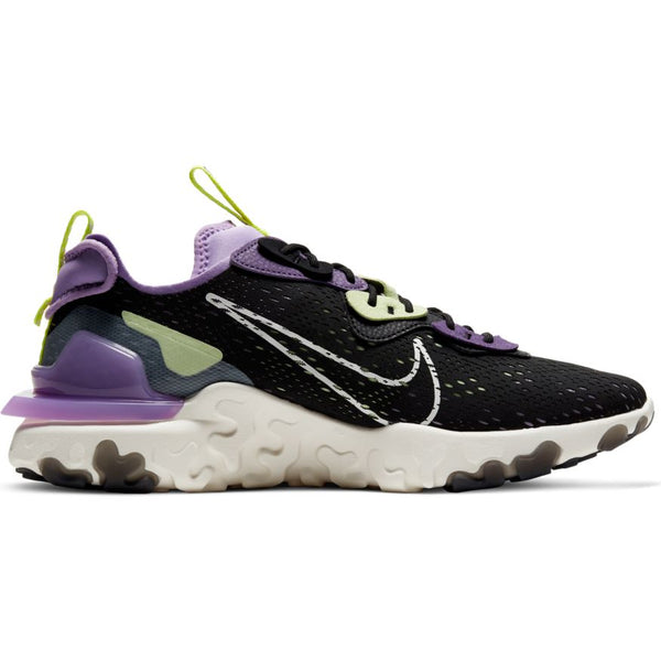 NIKE REACT VISION BLACK/SAIL-DK SMOKE GREY-GRAVITY PURPLE