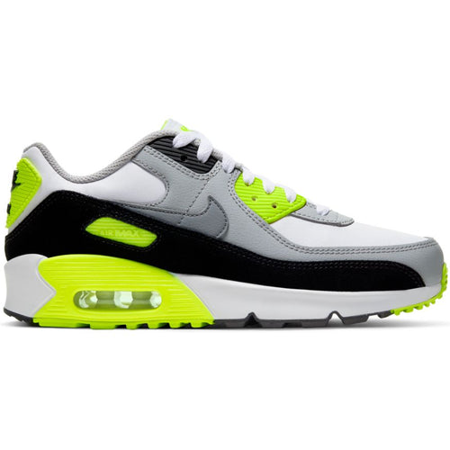 NIKE AIR MAX 90 LTR (GS) WHITE/PARTICLE GREY-LT SMOKE GREY VOLT