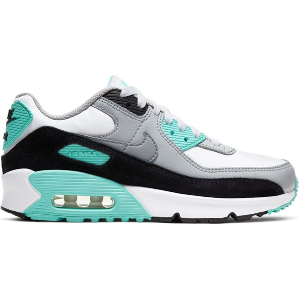NIKE AIR MAX 90 LTR (GS) WHITE/PARTICLE GREY-LT SMOKE GREY