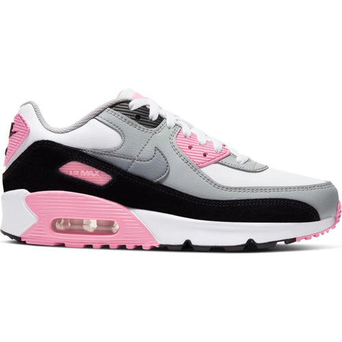 NIKE AIR MAX 90 LTR (GS) WHITE/PARTICLE GREY-LT SMOKE GREY-ROSE