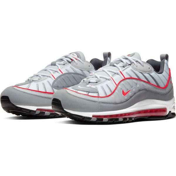 NIKE AIR MAX 98 PARTICLE GREY/TRACK RED