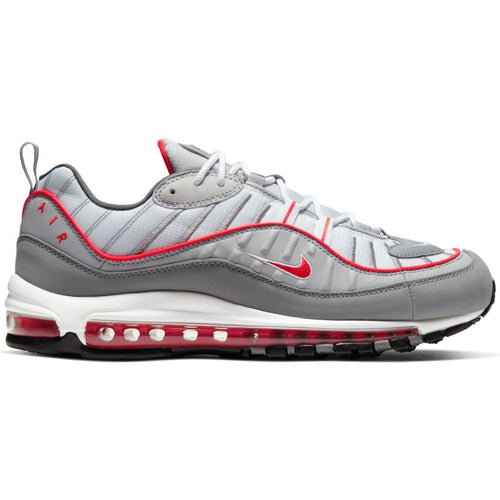 NIKE AIR MAX 98 PARTICLE GREY/TRACK RED-IRON GREY