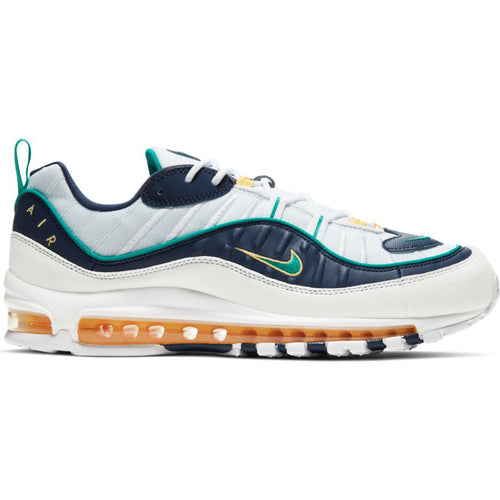 NIKE AIR MAX 98 WHITE/NEPTUNE GREEN-MIDNIGHT NAVY