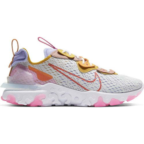 W NIKE REACT VISION PURE PLATINUM/RUST FACTOR-LIGHT THISTLE