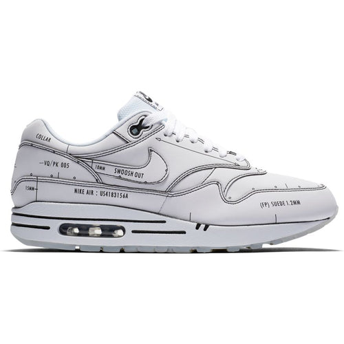 NIKE AIR MAX 1 SKETCH TO SHELF WHITE/BLACK
