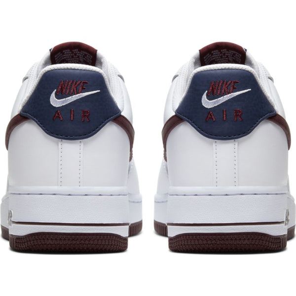 NIKE AIR FORCE 1 '07 LV8 WHITE/NIGHT MAROON-OBSIDIAN