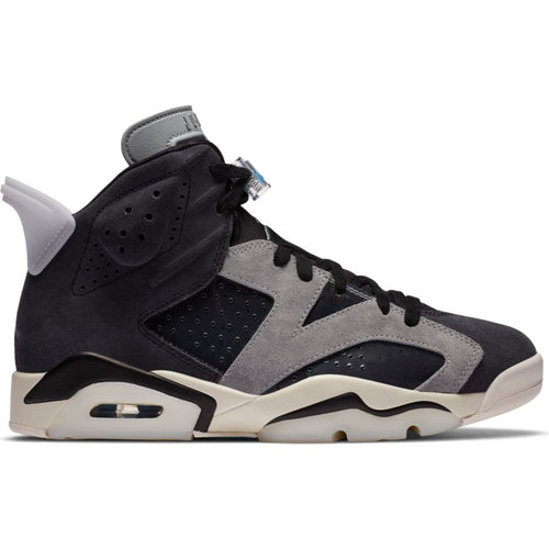 WMNS AIR JORDAN 6 RETRO BLACK/CHROME-LT SMOKE GREY-SAIL