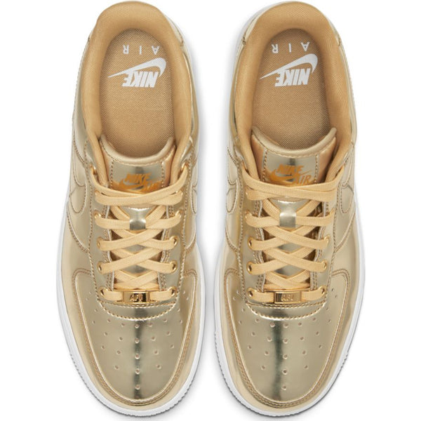W NIKE AIR FORCE 1 SP METALLIC GOLD/CLUB GOLD-WHITE