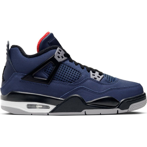 AIR JORDAN 4 RETRO WNTR LOYAL BLUE/BLACK-WHITE-HABENERO RED (GS)
