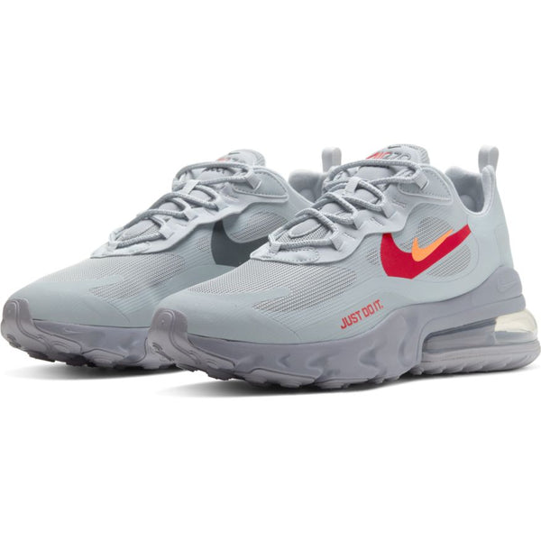 NIKE AIR MAX 270 REACT WOLF GREY/HYPER CRIMSON-UNIVERSITY RED