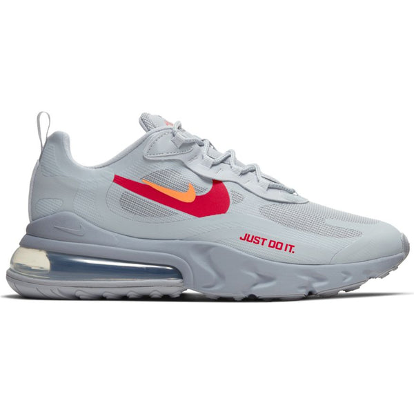 Nike Air Max 270 React Wolf Grey Hyper Crimson University Red Oznico