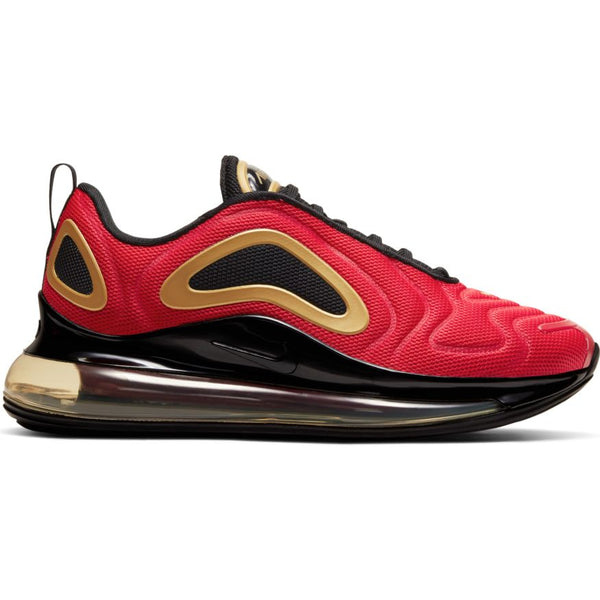 W Air Max 720 University Red Black Metallic Gold Oznico