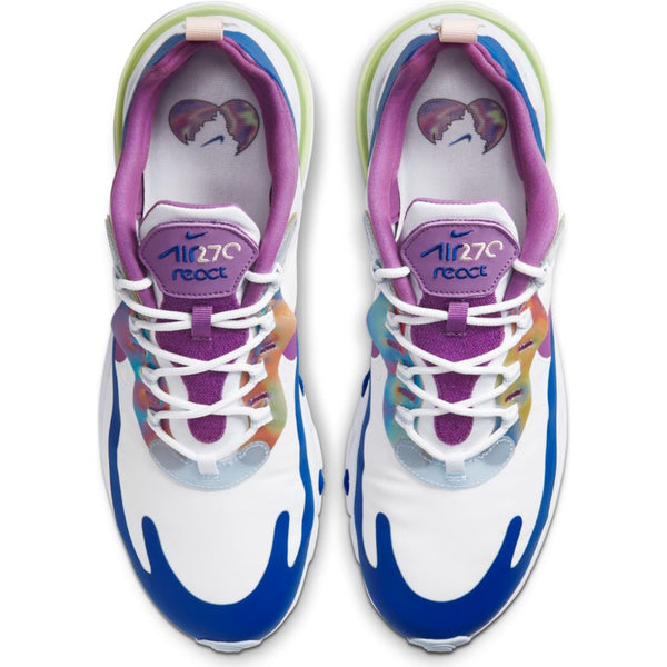 NIKE AIR MAX 270 REACT EASTER WHITE/PURPLE NEBULA-WASHED CORAL
