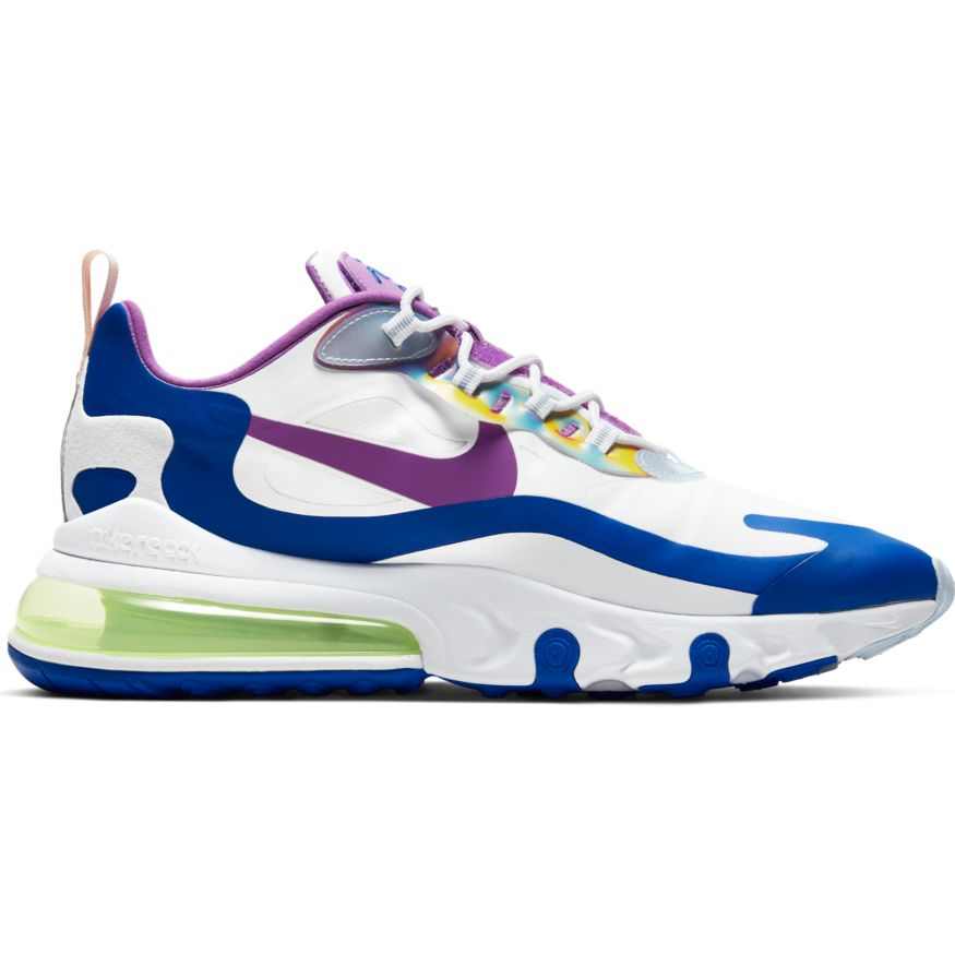 Nike Air Max 270 React Easter White Purple Nebula Washed Coral