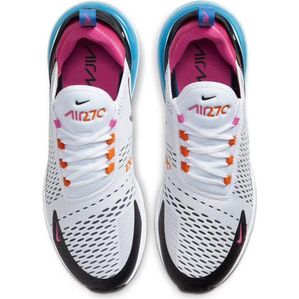 Air Max 270 White Black Magma Orange Active Fuchsia Oznico