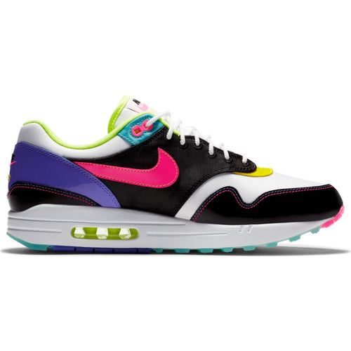 NIKE AIR MAX 1 BLACK/HYPER PINK-OPTI YELLOW-VOLT