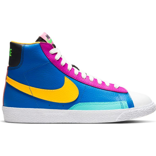 NIKE BLAZER MID (GS) BATTLE BLUE/LASER ORANGE-AURORA GREEN