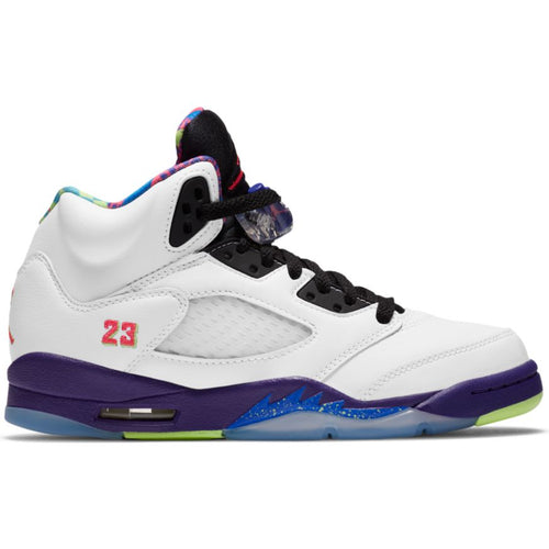AIR JORDAN 5 RETRO (GS) WHITE/GHOST GREEN-COURT PURPLE