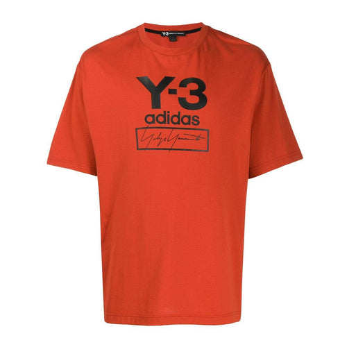 Y-3 Logo Print T-Shirt, Orange