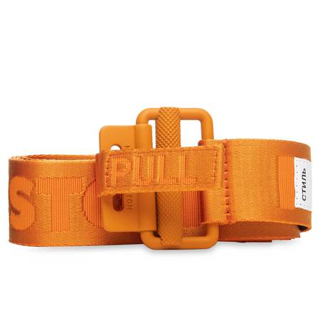 HERON PRESTON TAPE BELT 4CM CLASSIC BUCKLE, ORANGE