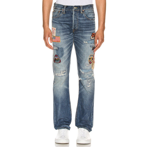 POLO RALPH LAUREN Varick Slim Straight Denim Jeans, Blue