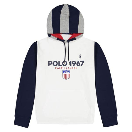 POLO RALPH LAUREN Hockey Bear Fleece Hoodie, Heather Grey