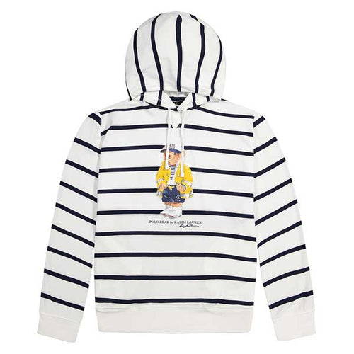 POLO RALPH LAUREN CP-93 Bear Mesh Hooded Jersey, White/ Multi