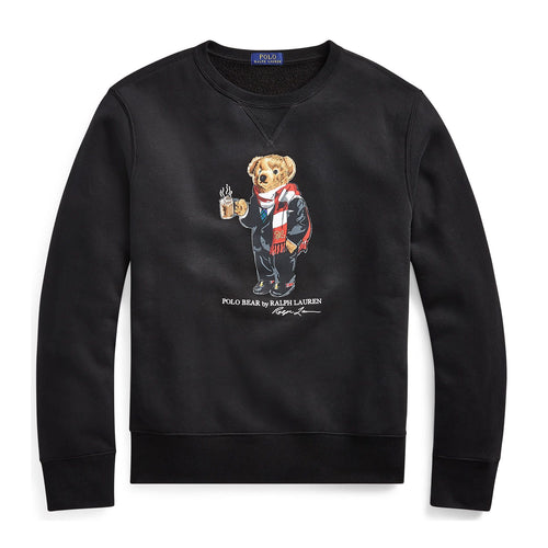 POLO RALPH LAUREN Bear Fleece Sweatshirt, Black