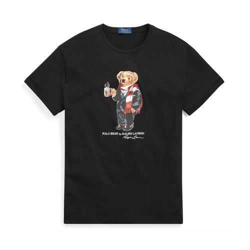 POLO RALPH LAUREN Classic Fit Cocoa Bear T-Shirt, Black