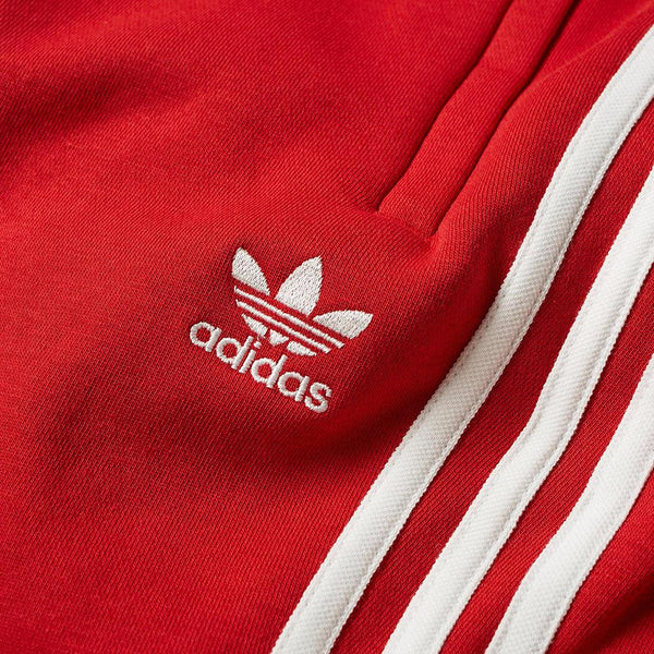ADIDAS 3 Stripe Sweatpants, Power Red